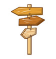All direction wood sign icon cartoon style