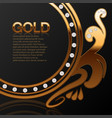 background for a jewelry store gold with diamonds vector image vector image