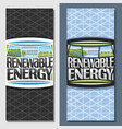 banners for renewable energy vector image vector image