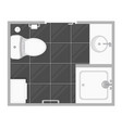 bathroom interior top view vector image