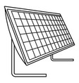 Battery solar panel icon outline style