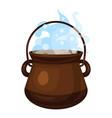 boiling cauldron icon cartoon style vector image vector image