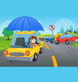 car insurance concept vector image vector image