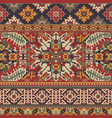caucasian style antique rug motifs patchwork vector image vector image