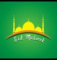 creative Eid Mubarak Islamic festival greeting vector image vector image