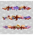Creatures of sea clams Three horizontal sets vector image vector image