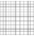 cross line seamless pattern black grid lines vector image vector image