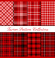dark red tartan pattern collection vector image