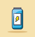 energy drink can beverage bolt icon vector image vector image