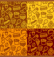 fast food patterns vector image vector image