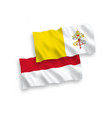 flags indonesia and vatican on a white vector image