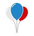 flat air balloon vector image