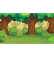Game Forest Oakwood Landscape vector image vector image