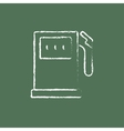Gas station icon drawn in chalk vector image vector image