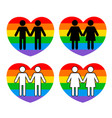 gay couple symbol vector image vector image