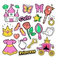 Girl Princess Badges Patches Stickers vector image vector image