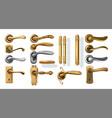 golden door handles 3d decorative interior vector image