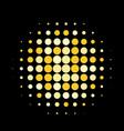 golden round halftone pattern design vector image vector image