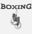 graphic label with boxing gloves vector image vector image