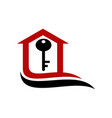 home real estate key vector image vector image