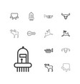 horn icons vector image vector image