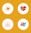 icon flat heart set of gender signs fried egg vector image vector image
