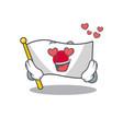 in love flag japan in cartoon shape vector image vector image