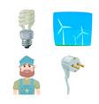 isolated object of electricity and electric symbol vector image