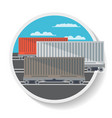 logistics icon with commercial railway wagon vector image vector image