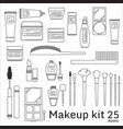 makeup kit cosmetic set vector image