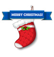Merry Christmas stocking vector image vector image