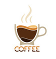 morning cup of coffee for waking up logo vector image