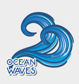oean waves with cute shapes design vector image vector image
