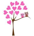 owl swinging vector image vector image