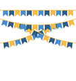 party pennants blue and yellow vector image