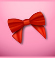 realistic red ribbon vector image