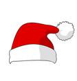 santa claus hat vector image vector image