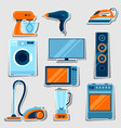 set home appliances household items for sale vector image vector image