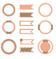 set of flags and labels vector image vector image