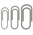 Set of Paper Clips Isolated vector image vector image