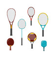 set sport game equipment - rackets for vector image