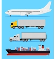Shipping transportation vector image