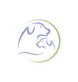 silhouette dog a pet shop veterinary vector image vector image