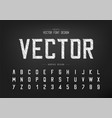 sketch font and alphabet chalk modern typeface vector image vector image