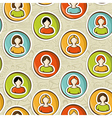 Social networks pattern vector image vector image