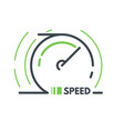 speed icon vector image