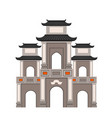 the gate of perfume pagoda vector image