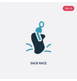 two color sack race icon from other concept vector image vector image