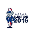 US Election 2016 Republican Mascot Thumbs Up vector image vector image