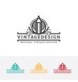 vintage art logo design vector image